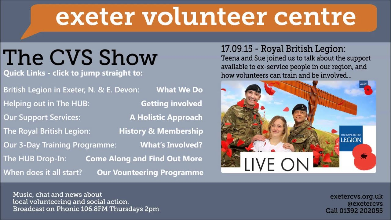 cvs radio show 17 sep 2015  royal british legion
