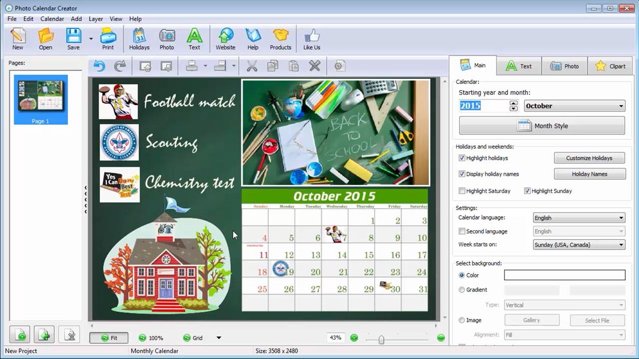 easy to make school calendars entourage yearbooks