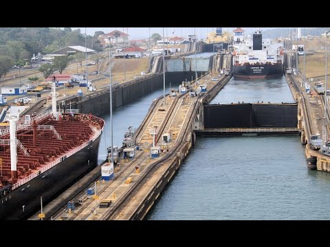 Panama Canal Transit, built 100 years ago, an engineering marvel.