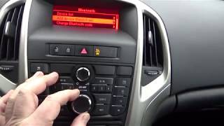 how to pair / connect mobile phone with car stereo speakers bluetooth opel vauxhall astra j