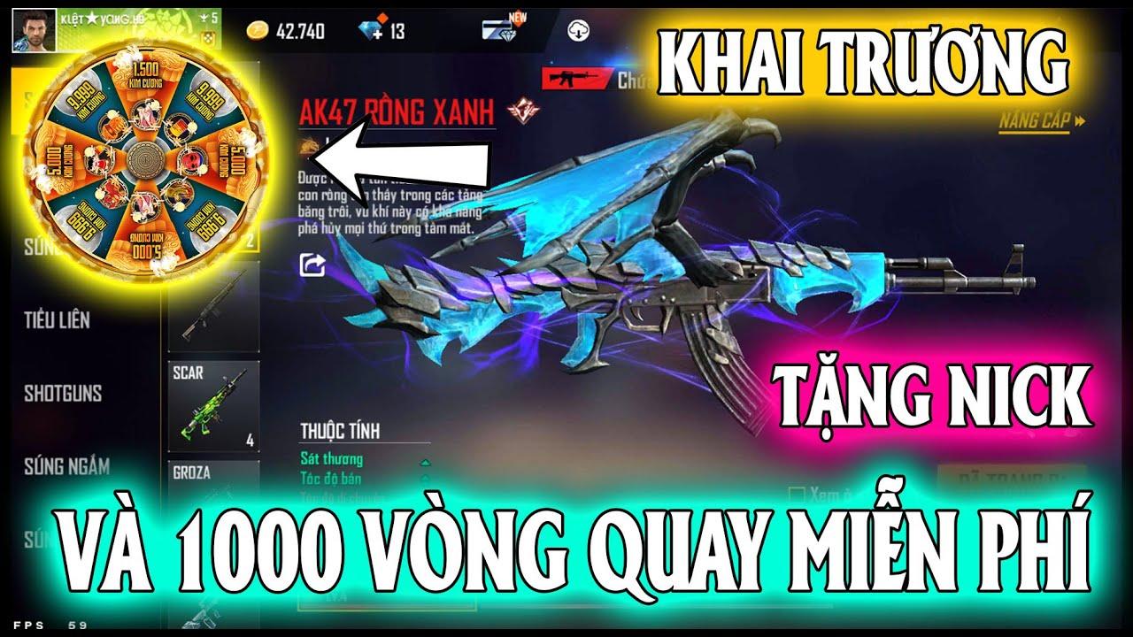 Mua Nick Tặng Anh Em Và Tặng 1000 Vòng Quay  Miễn Phí 0 Đồng Mini Game Nhân Dịp Khai Trương Shop