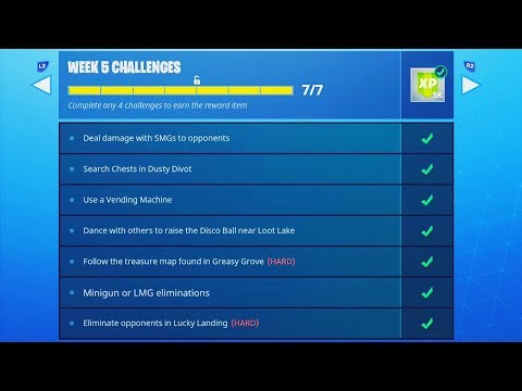 NEW UPDATE! - Fortnite WEEK 5 CHALLENGES COMPLETE GUIDE! (Fortnite: Battle Royale Week 5)