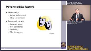Topic 2.3 Factors that influence buying - Personality, perception