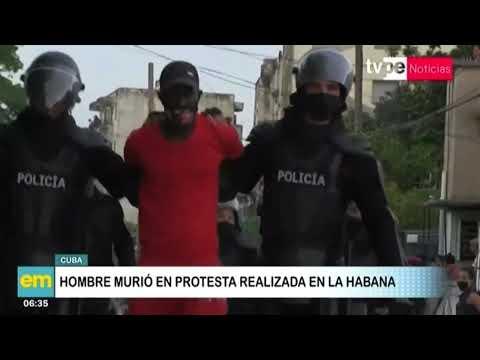 Cuba: hombre murió en protesta realizada en La Habana