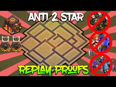 TH10 ANTI 2 STAR WAR BASE with REPLAY PROOFS | ANTI LAVALOON/GOLEM/VALK/P.E.K.K.A | Clash of Clans