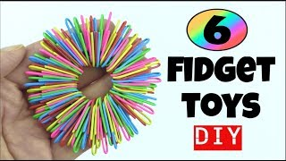 6 EASY DIY FIDGET TOYS - HOW TO MAKE TOYS - PAPER CLIP, PIPE CLEANER, STRESS RELIEVER DIYS