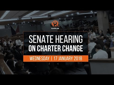 LIVE: Senate hearing on Charter Change, 17 January 2018