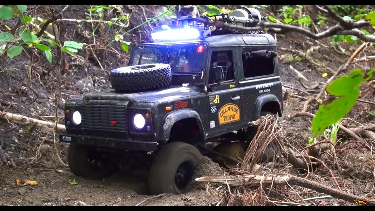 Rc Adventures Ultra Scale 4x4 Camel Trophy Driver Training Defender D90 Rover Youtube