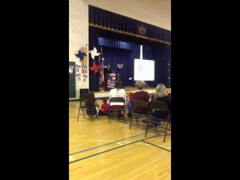 Mr. Roberts' Flag Day address at Arongen Elementary School