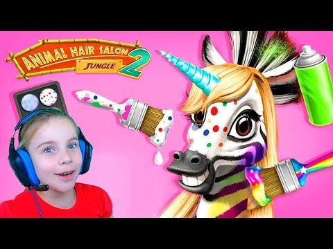 Животные джунглей в приложении для детей Развивающие Игры для детей