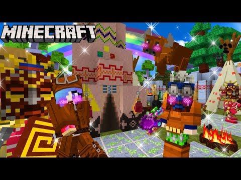 MineCraft ตอนสร้างบ้านเผ่าคนป่าอินเดียแดงสุดวินเทจ