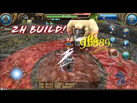 Arewzo 2H Great Sword Lv160 Build! No Long Combo xD - Toram Online