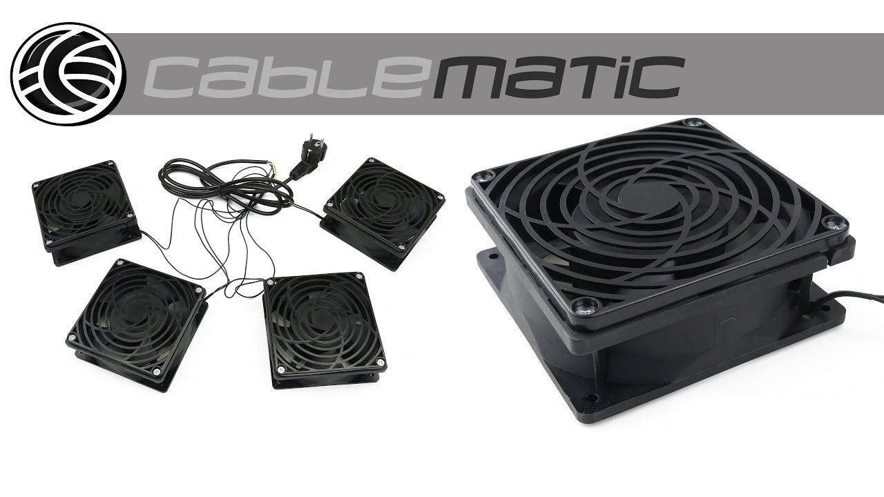 /Los Ventiladores De Techo para Armario Rack 19/4/x 120/mm 220/Vac Cablematic/