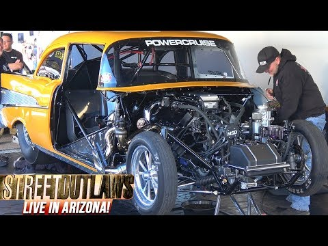 Street Outlaws Live in the Pits at Tucson Arizona No Prep Raceway
