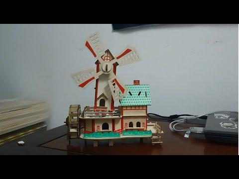 Woodcraft Assembly kit 3D [ Miniature Windmill Model ] Lắp ráp mô hình cối xay gió thu nhỏ bằng gỗ