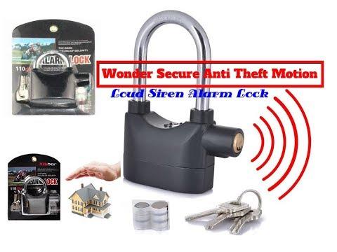 Siren Alarm Lock Anti-Theft Door Motor Bike Padlock 110dB
