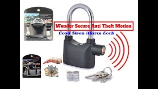 Siren Alarm Lock Anti-Theft Door Motor Bike Padlock 110dB