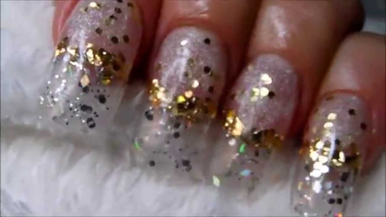 Fairy Dust Acrylic Nails * Clear looking nails * - YouTube