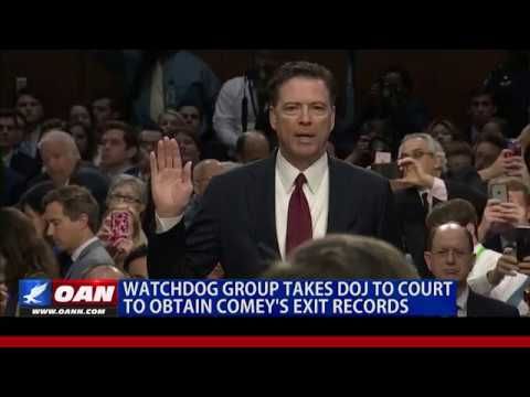 NEW: Judicial Watch Takes DOJ to Court Over Comey Exit Records