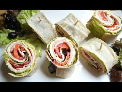 How to make a turkey pinwheel sandwich