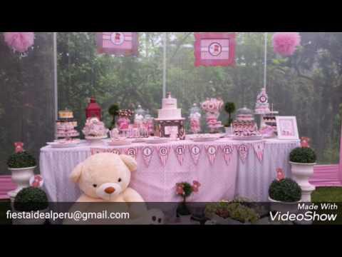 Tematica De Baby Shower Nina.Decoracion Baby Shower Osita Youtube