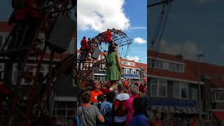 "Royal de Luxe""The Little Giant Girl"" Cultural capital of Europe Leeuwarden"