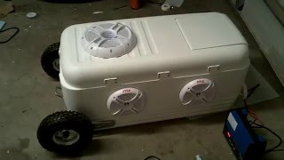 Cooler Radio River Cooler Stereo Ice Chest Chickeneye V2.0