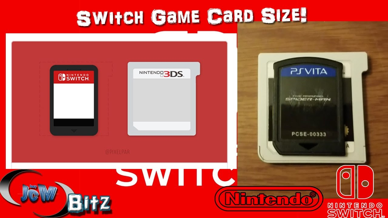 Nintendo Switch Game Card Size 3ds Comparison Youtube