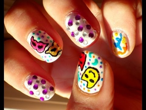 Uñas Carnaval Carnival Nails Youtube