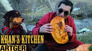 KHAN-Size Mongolian KHUUSHUUR - Cheesy! | Khan's Kitchen