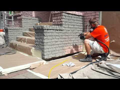 Exterior Brick Stain in Dover Grey