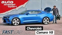 Chevrolet Camaro V8 (2019): Gute Rundenzeit dank reichlich Liter? - Fast Lap |auto motor und sport