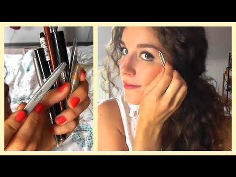 Anleitung zu perfekten Augenbrauen - Zupfen und Schminken - YouTube