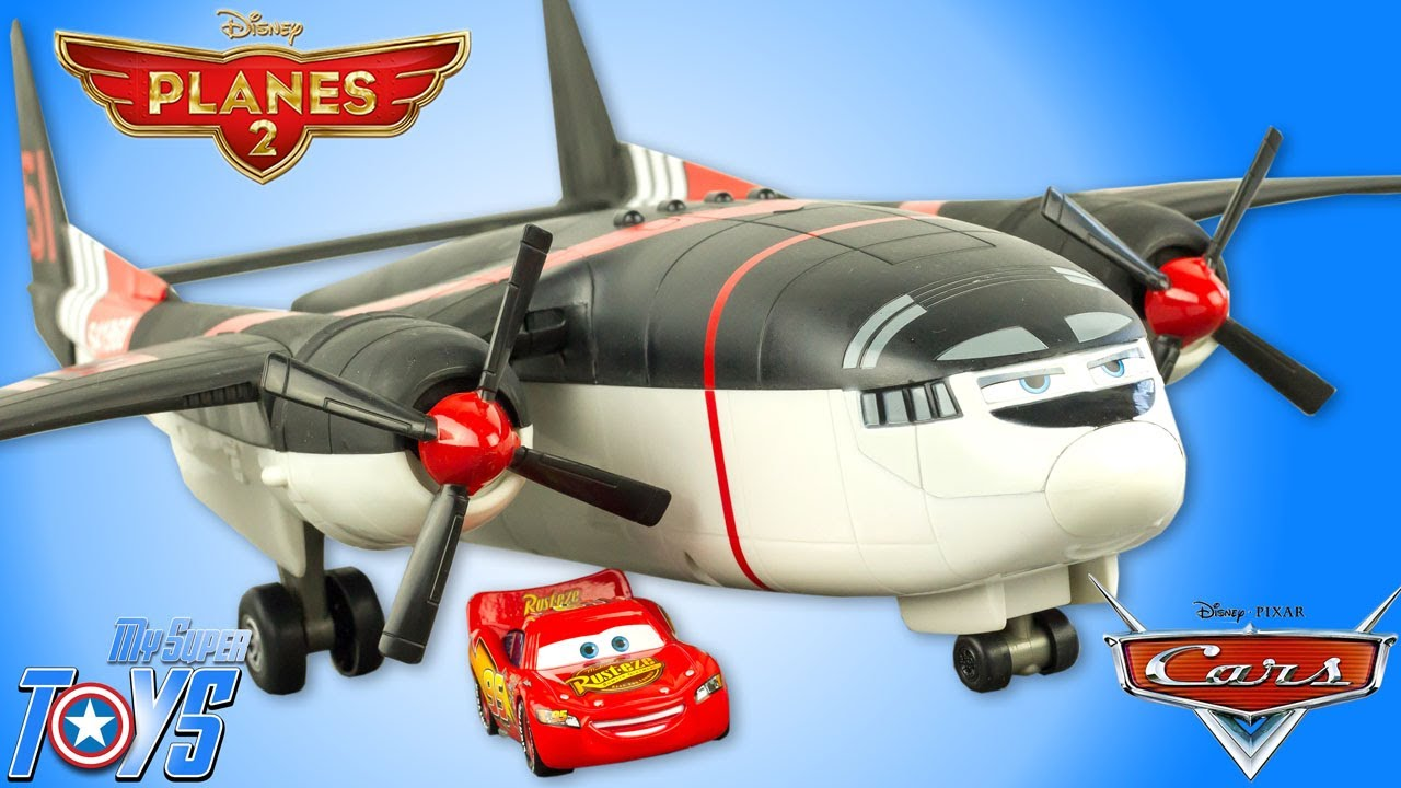 Disney Planes Cabbie Cargo Airplane Transporter Cars Lightning McQueen Toy Review