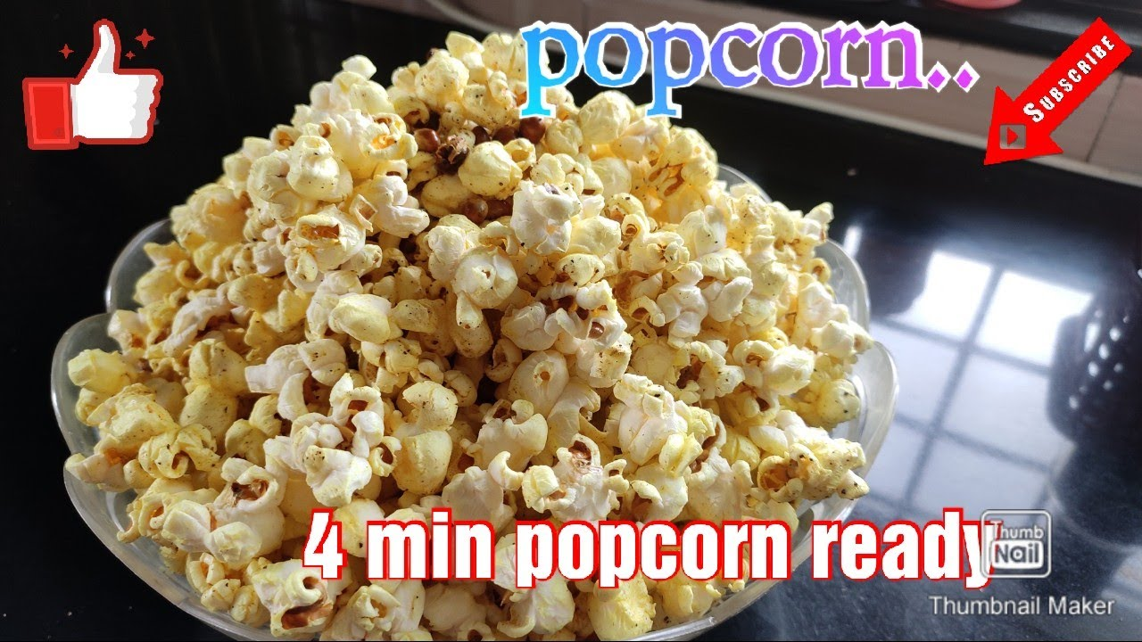 how to popcorn at home