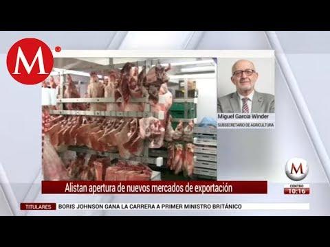 Alistan apertura de nuevos mercados de exportación: Miguel García