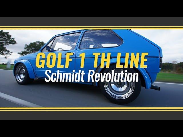 VW Golf 1 mit Schmidt Revolution TH Line Felgen Friedrich Motorsport Rennsportanlage und KW V3