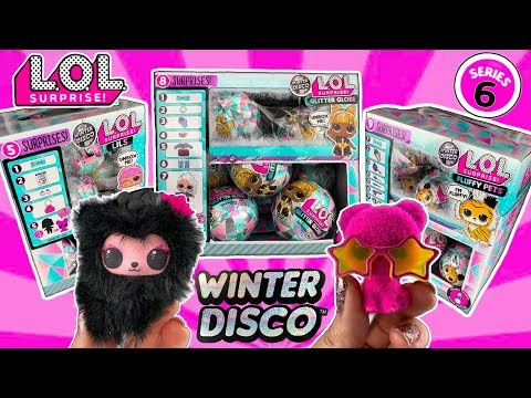 LOL SURPRISE WINTER DISCO!! LOL Series 6 Unboxing! Glitter Globe LOL Dolls, Fluffy Pets + Lils Pt 1