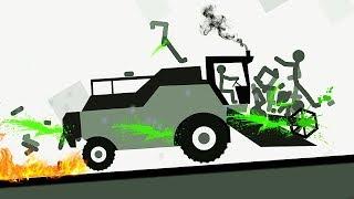 БЕШЕНЫЙ СТИКМЕН #4 как мультфильм про машинки в смешной игре для детей на Android от FGTV