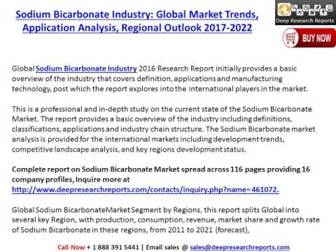 Sodium Bicarbonate Industry 2017 Global  Market Demand, Growth, Types, Analysis & Forecast 2022