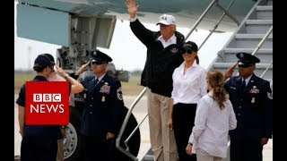 Houston flood: Trump visits Texas amid 'epic' rainfall - BBC News
