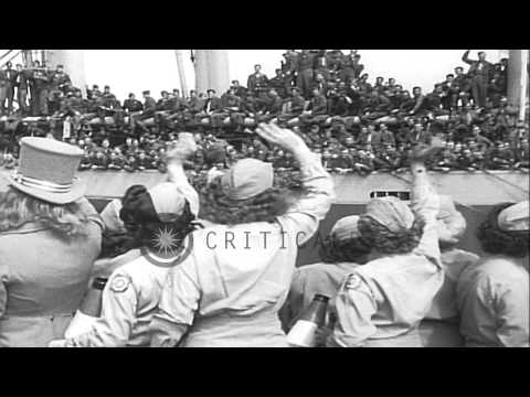 28th Infantry Division soldiers receive a warm welcome as they return to Boston, ...HD Stock Footage