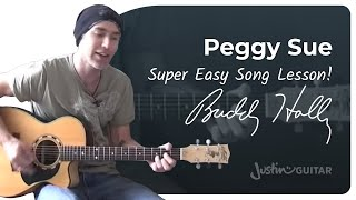 Peggy Sue - Buddy Holly (Songs Guitar Lesson BS-208) How to play