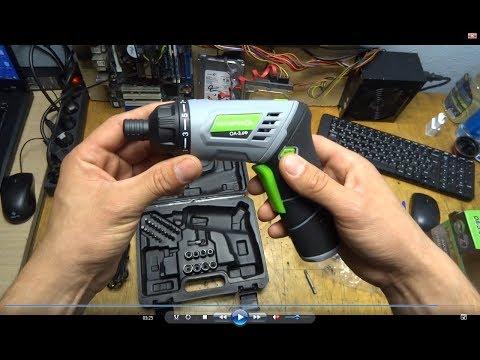 Аккумуляторная отвертка Интерскол ОА-3.6Ф Мини обзор