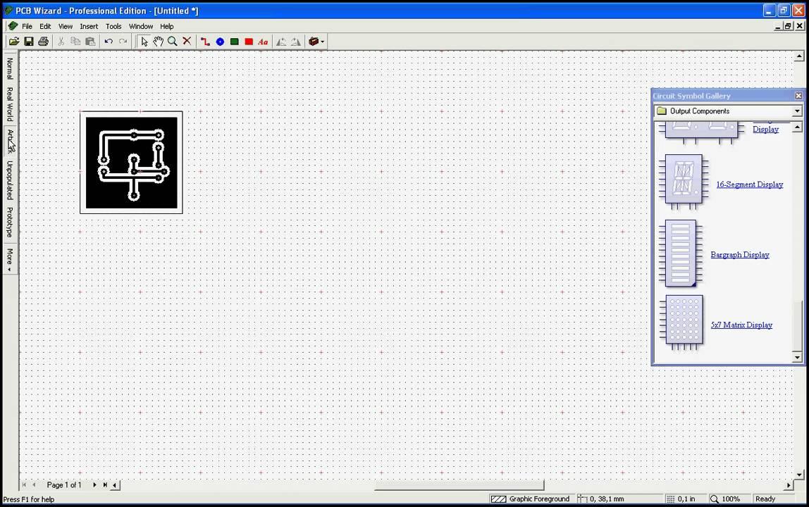 manejo de programa para dise u00f1ar placas de circuito impreso  u0026quot pcb wizard u0026quot