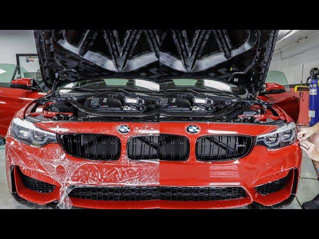 2020 BMW M4 CS Clear Bra Time Lapse