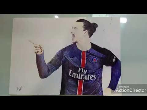 Zlatan Ibrahimovic Pen Drawing-PSG