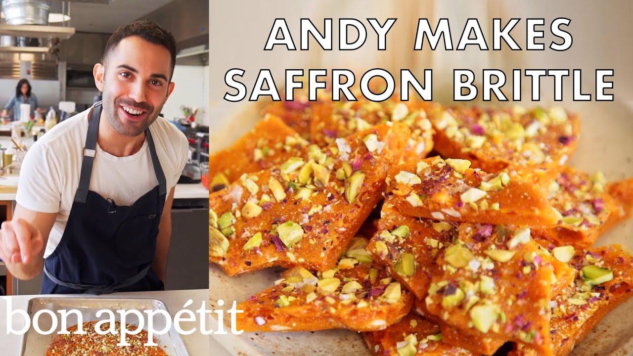 Andy Makes Delicious Saffron Brittle | From the Test Kitchen | Bon Appetit
