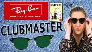 видео Очки Clubmaster (Клабмастер) Ray Ban купить в Москве!