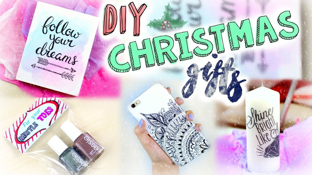 DIY Easy Christmas Gifts | Last Minute Presents for Friends ...